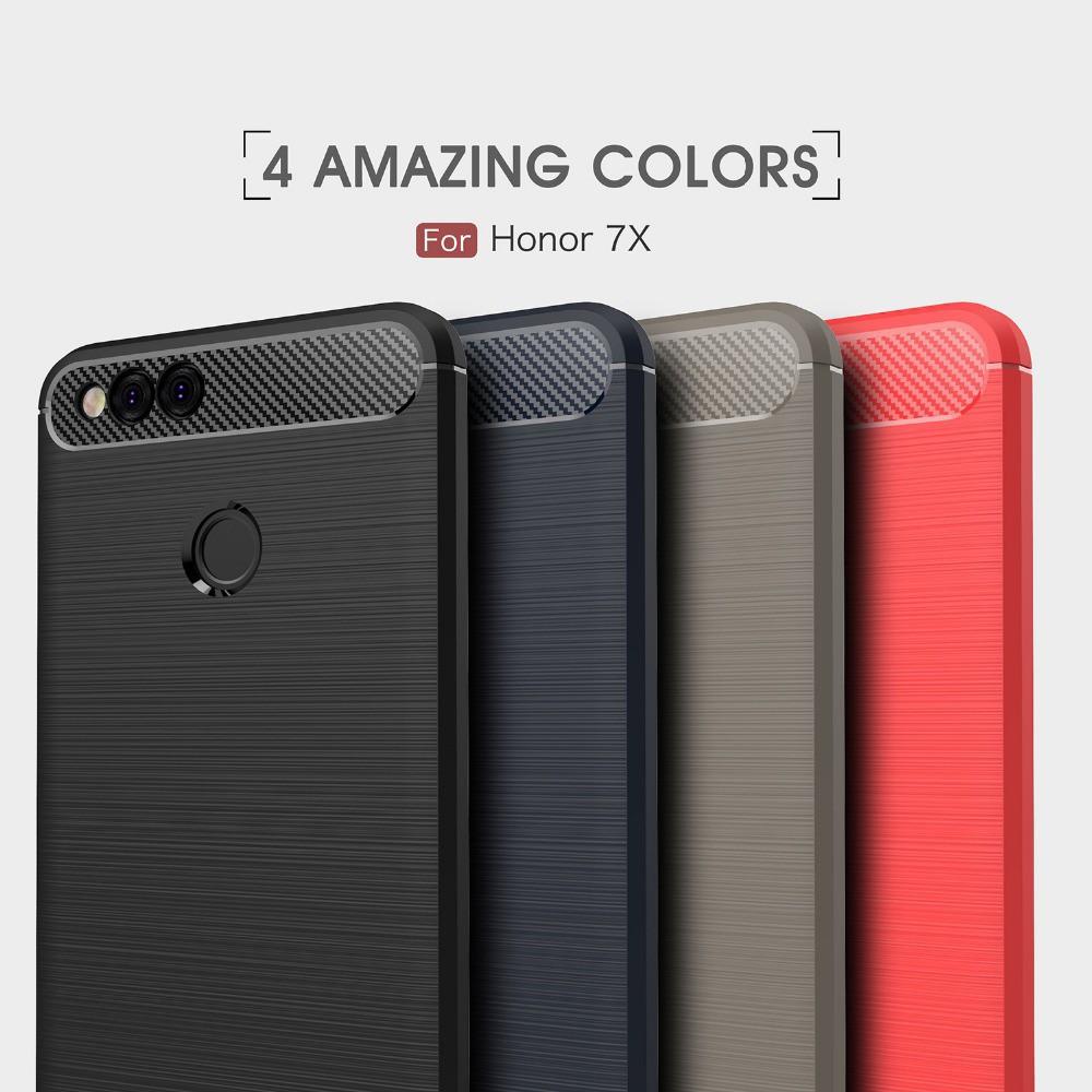 Ốp điện thoại silicon sang trọng chống sốc cho Huawei Honor 7X