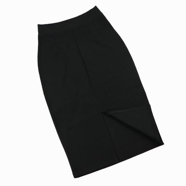 Chân váy công sở bút chì xẻ sau vải umi Hàn