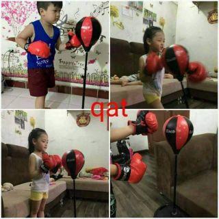 Bộ đồ chơi đấm bốc. Chơi thể thao giúp phát triển khả năng vận động, hệ xương cứng cáp và sức khỏe cho bé .nhất bé trai