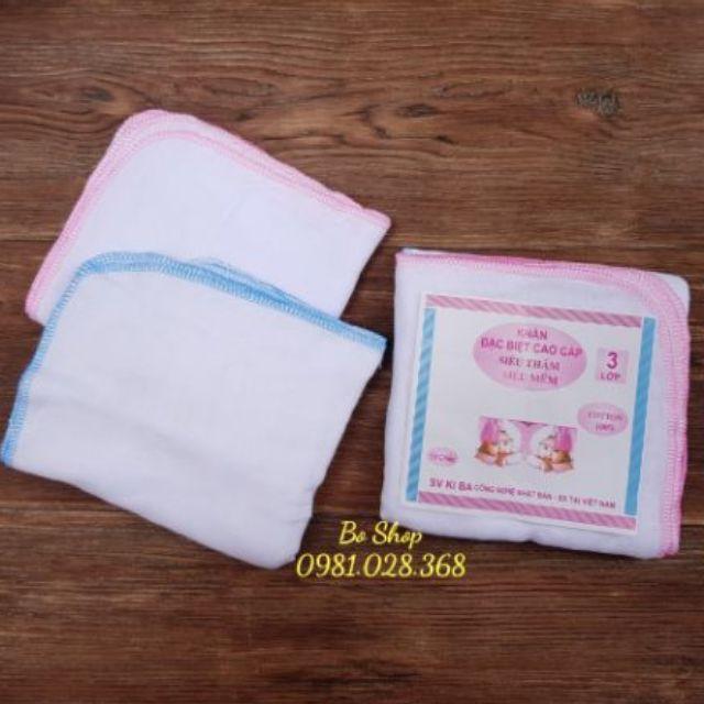 [XẢ KHO] khăn sữa đa năng cho bé - Khăn sữa ki ba 3 lớp | SẢN PHẨM HOT