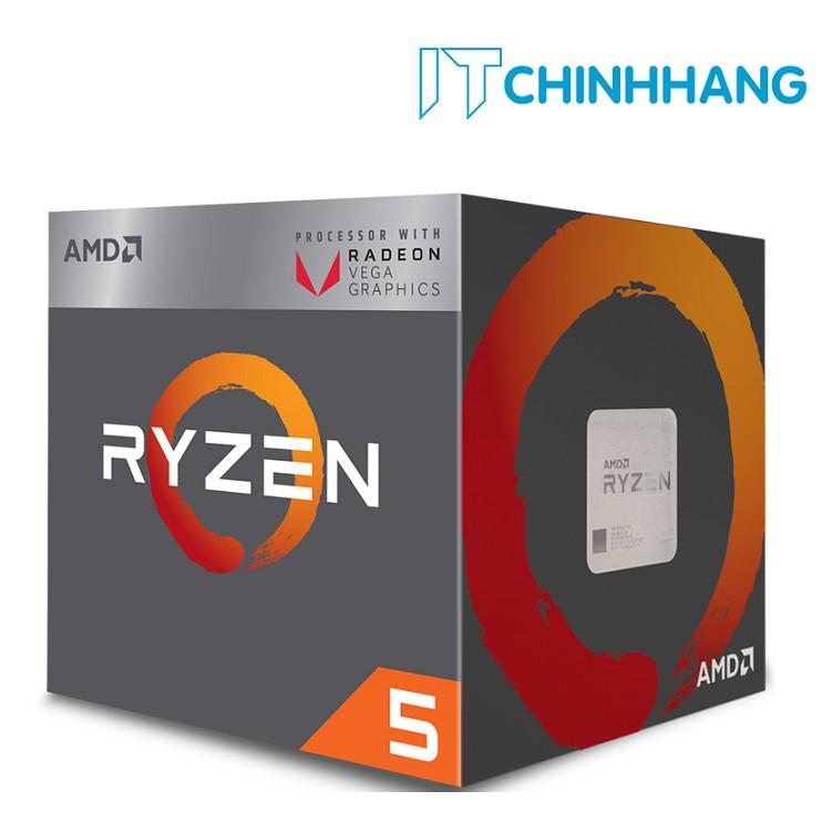 Chip Vi Xử Lý Ryzen 5 2400G ( 3.6 - 3.9 GHz ) - HÃNG PHÂN PHỐI CHÍNH THỨC