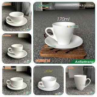 Ly cafe sứ trắng Bát Tràng cao cấp