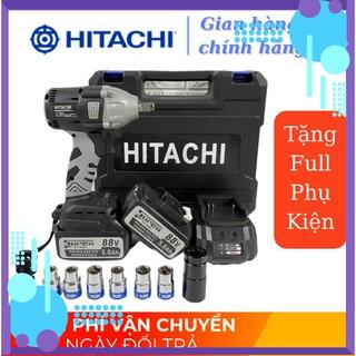 [Chính Hãng] Máy vặn ốc bulong Hitachi 88V – 2 TRONG 1 – 2 Pin – TẶNG 6 KHẨU DÀI + ĐẦU KHOAN SẮT .