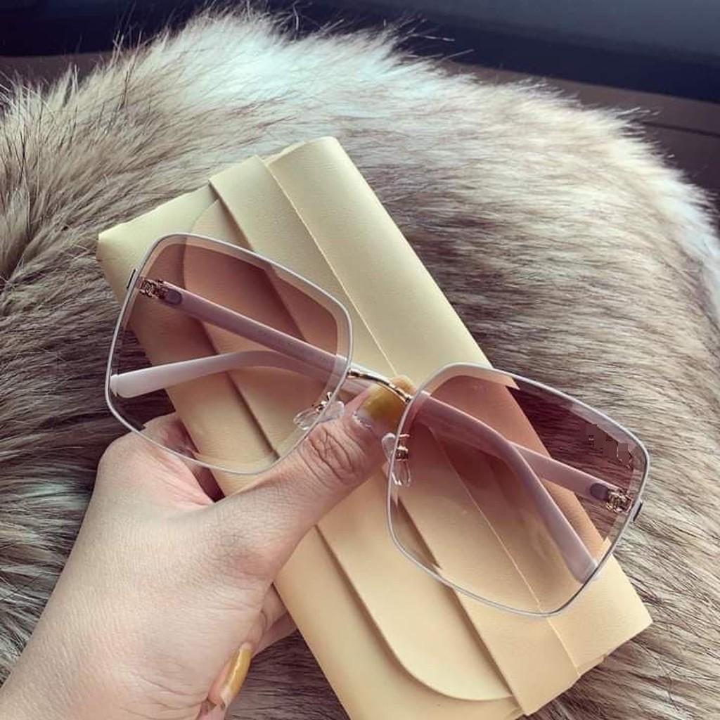 ( Tặng Tai Nghe ) Kính mát nữ thời trang cao cấp , Mắt kính nữ sang chảnh, độc đáo- Tặng kèm túi đựng + khăn
