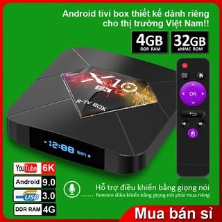 [Mã ELMS5 giảm 7% đơn 300K] Android Tivi Box X10 plus Tivi Box Ram 4GB Rom 32Gb , Bảo hành 1 năm