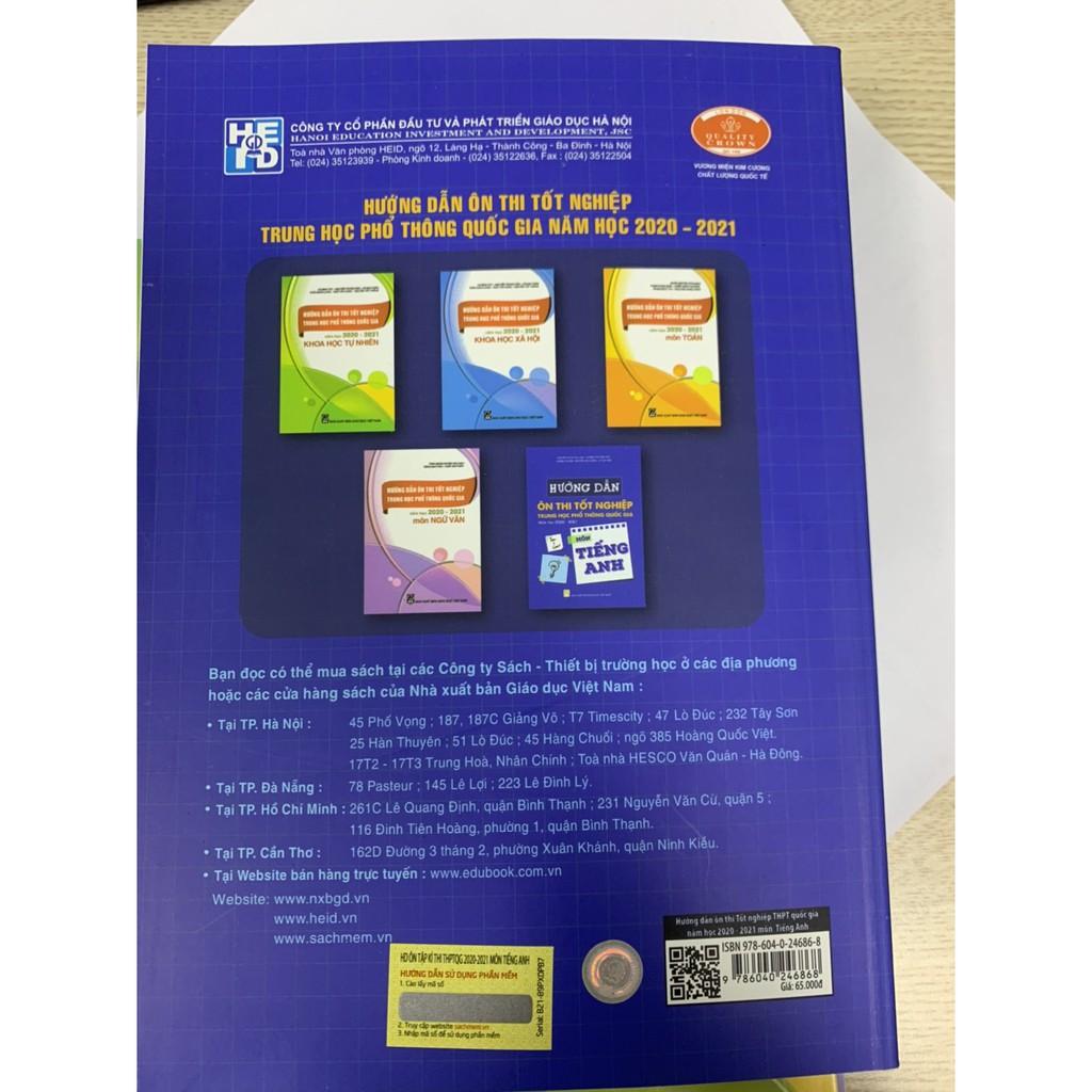 Sách - Hướng dẫn ôn thi tốt nghiệp trung học phổ thông quốc gia năm học 2020 - 2021 môn Tiếng Anh