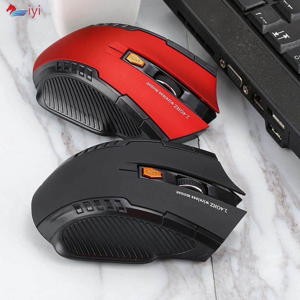 Chuột không dây 1600DPI 2.4GHz cho game thủ kèm USB nhận tín hiệu