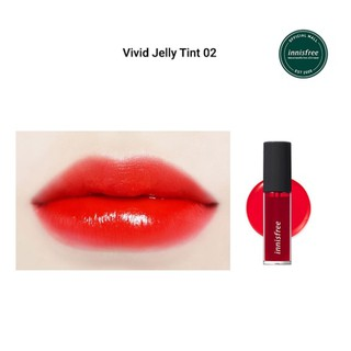 Son môi dạng lỏng [innisfree] Vivid Jelly Tint 01 02 Orange Red (5.2g) thumbnail