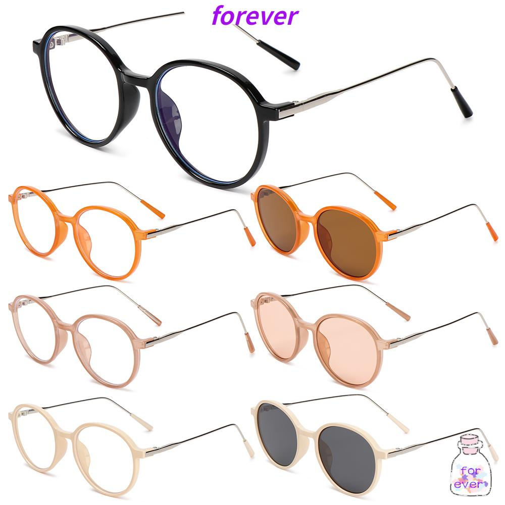 🌱FOREVER🌱 Fashion Eyeglasses Vintage Ultra Light Frame Anti-Blue Light Glasses Portable Women Men Computer Round Eye Protection