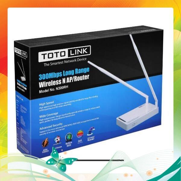 (Deal Khủng) Totolink N300RH_Thiết Bị Router Wi-Fi công suất cao chuẩn N 300Mbps Giá chỉ 819.000₫