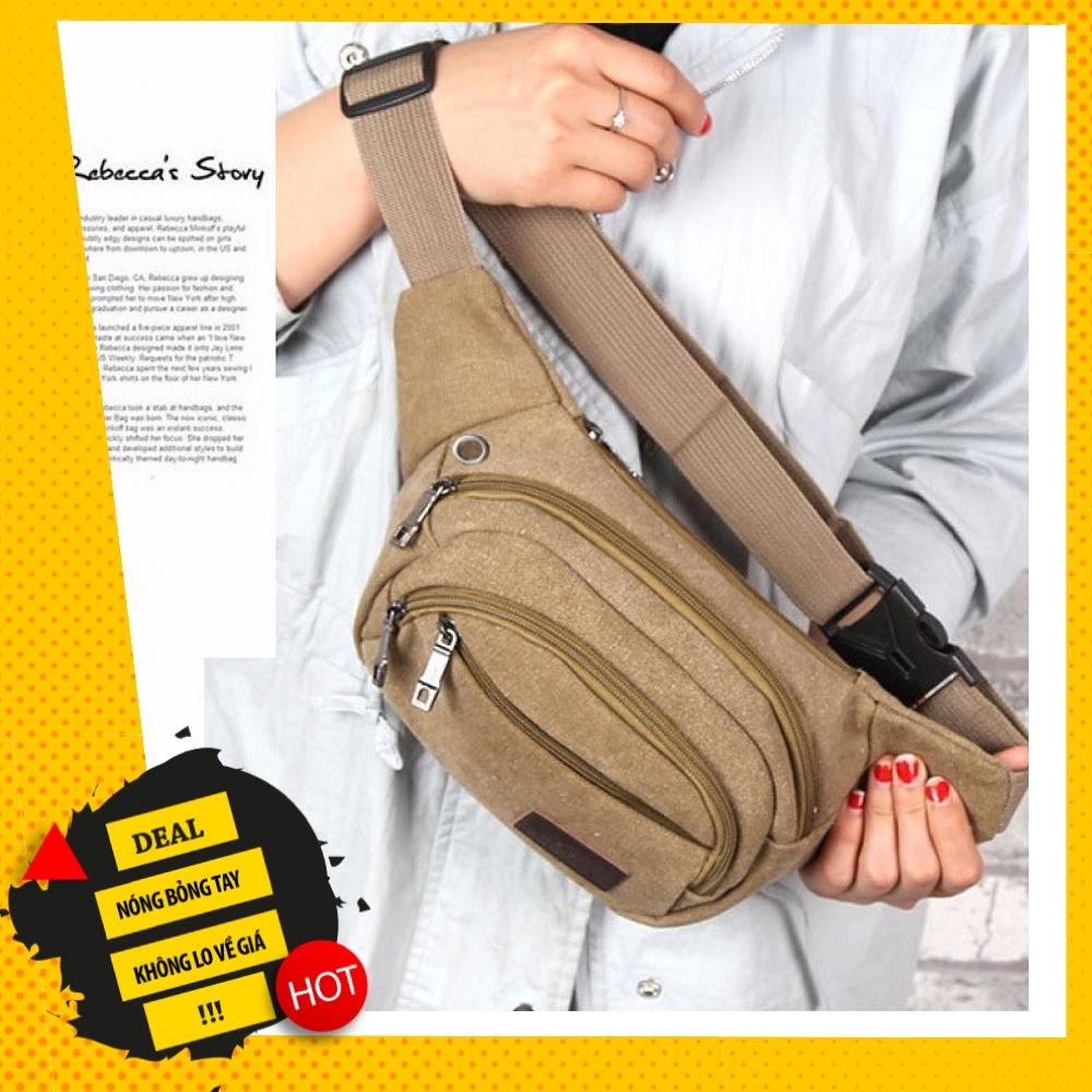 TÚI VẢI BỐ ĐEO CHÉO DÀNH CHO NAM (Wanfuniao) Túi đeo hông
