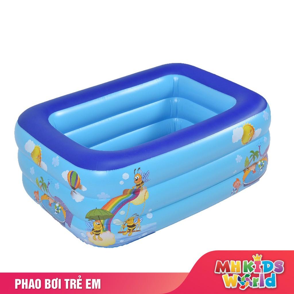 Bể bơi phao cho bé 3 tầng đủ tất cả kích cỡ có đế chống trượt