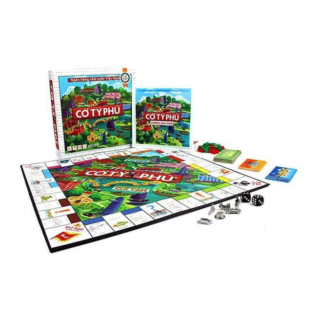 Cờ tỷ phú – Monopoly- BOARD GAME Việt Hóa chính hãng -Rèn luyện phát triển kỹ năng tư duy tài chính bảo bảo hành 1 đổi 1