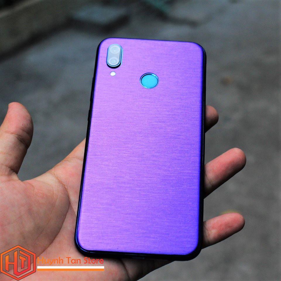 Huawei Nova 3E_ Skin full mặt lưng và cạnh chất liệu nhôm xướt 3D