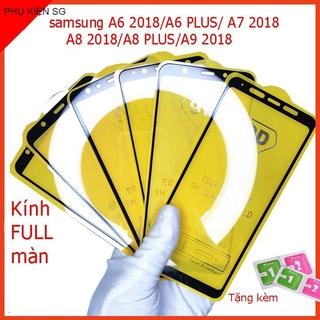 Cường lực SAMSUNG A6 2018,A6 PLUS, A7 2018,A8 2018,A8 PLUS, A9 2018, Tặng kèm giấy lau kính khô và ướt