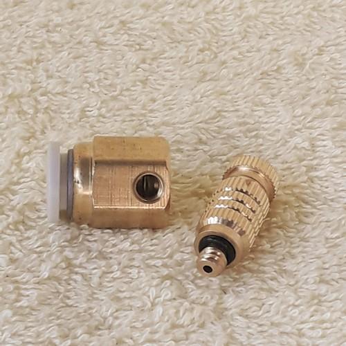 Bộ phun sương làm mát Sử dụng bơm đôi Sinleader 12V Lưu lượng 9L/phút kèm nguồn 12V10A 10 đầu béc phun hoàn chỉnh