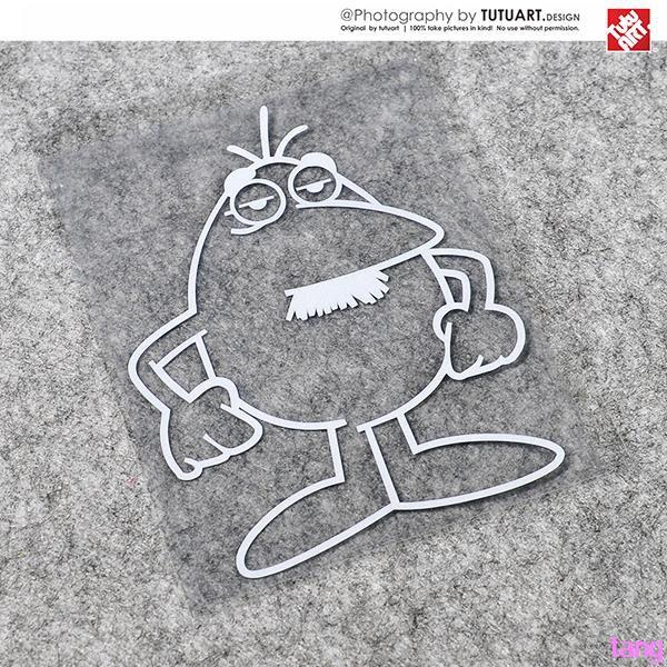 Cartoon mustache superman sticker small egg fun decorative reflective sticker de