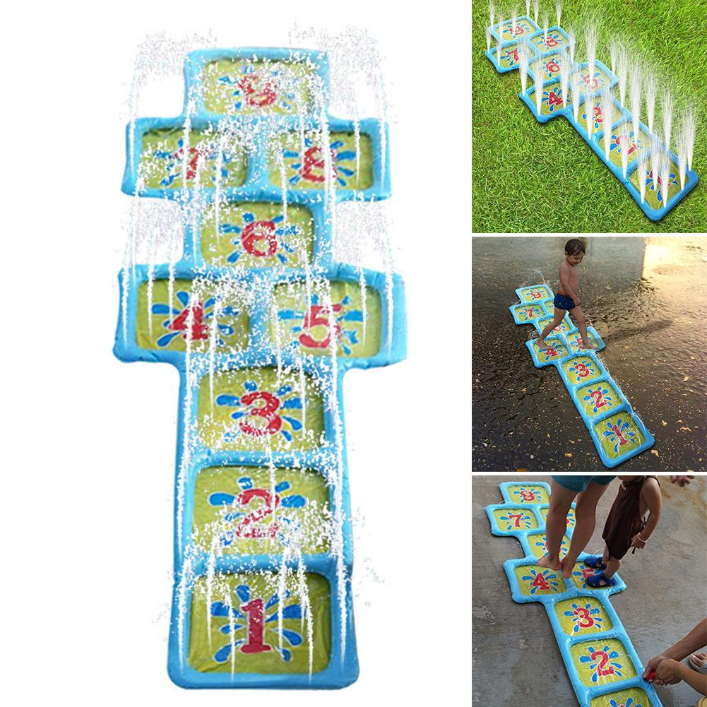Outdoor Number Hopscotch Accessories Summer Inflatable Sprinkle Water Children Courtyard Playing Game Mat