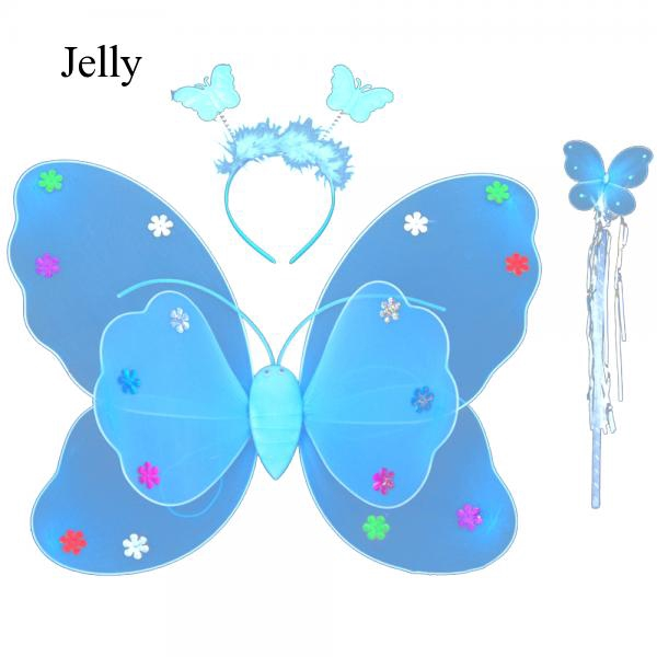3 Pcs Double-deck Butterfly Wings Children Cosplay Halloween Party Costume J484
