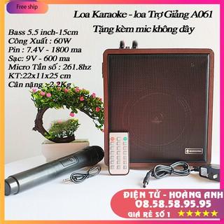 Loa Karaoke Loa trợ giảng Bluetooth Zansong A061-A062 Mini (tặng micro không dây)