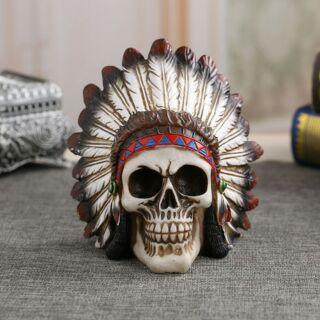 Mô hình trang trí hình đầu lâu người da đỏ