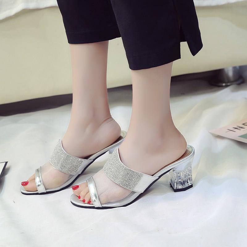 Hàng nhập khẩu: Dép Thời Trang Nữ Wenz cao 6Cm Lưới Pc Hàn Quốc Giày Dép Nữ Chất Liệu Da Pu 6, (Miễn Phí Vận CH188 am507