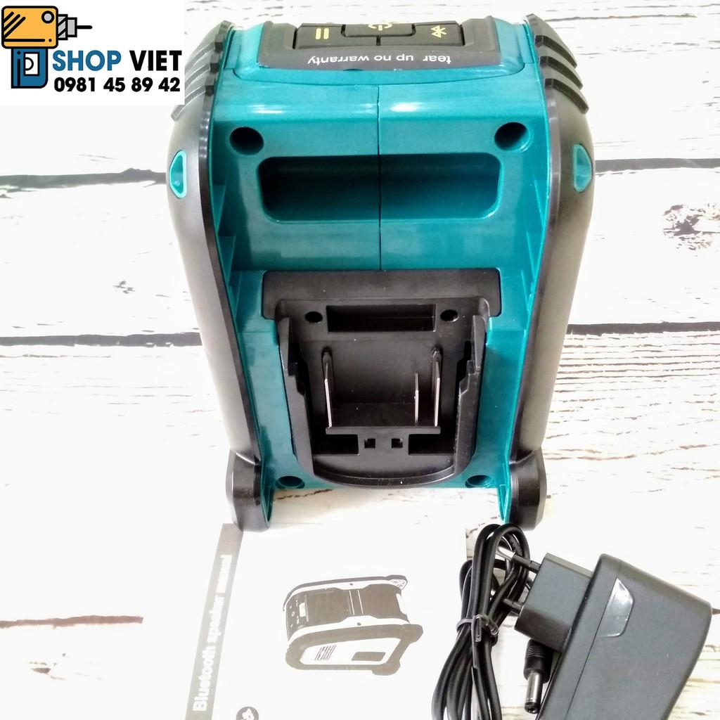SV Loa bluetooth di động chạy pin Makita, Dewalt, Milwaukee 14,4V-20V