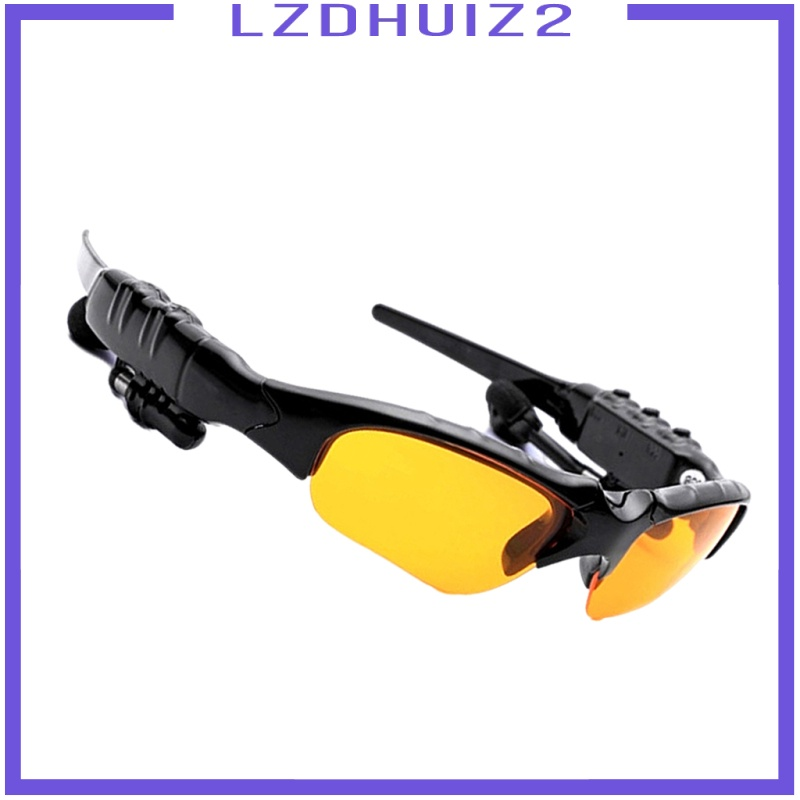 Les Fleurs Sports Bluetooth Sunglasses Polarized Glasses Stereo Headset Headphone for Men Eyewear