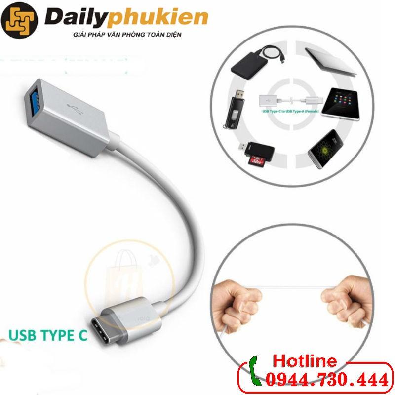 Cáp chuyển OTG USB-C sang USB 3.0 âm cho điện thoại, máy tính - 2890782 , 1080556596 , 322_1080556596 , 110000 , Cap-chuyen-OTG-USB-C-sang-USB-3.0-am-cho-dien-thoai-may-tinh-322_1080556596 , shopee.vn , Cáp chuyển OTG USB-C sang USB 3.0 âm cho điện thoại, máy tính