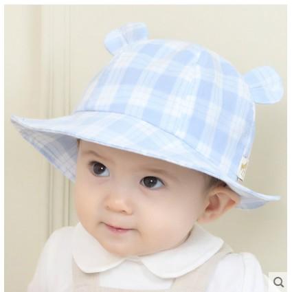 Mũ kẻ tai gấu cho bé kiểu dáng thời trang che nắng cho bé