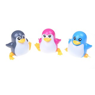 NBY❤❤New Lovely Funny Children Kids Toy Walk Penguins Clockwork Wind Up