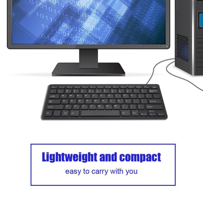 78 Keys Ultra-Thin Scissors Feet Design Mini USB Wired Keyboard With Multimedia Function