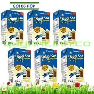 [Mã 88FMCGSALE giảm 8% đơn 500K] Sáu hộp Sữa đặc Ngôi Sao Phương Nam xanh biển 1284gram