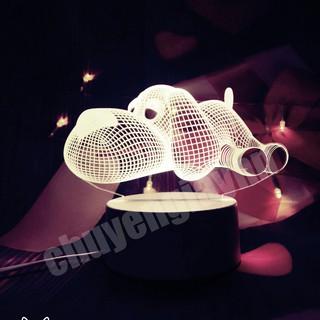 Đèn ngủ 3D CHÓ CON, đèn trang trí, quà tặng sinh nhật, quà tặng tình yêu