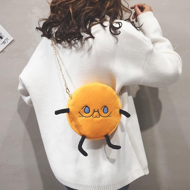 Plush bag female 2018 new Korean version of the cute shoulde
