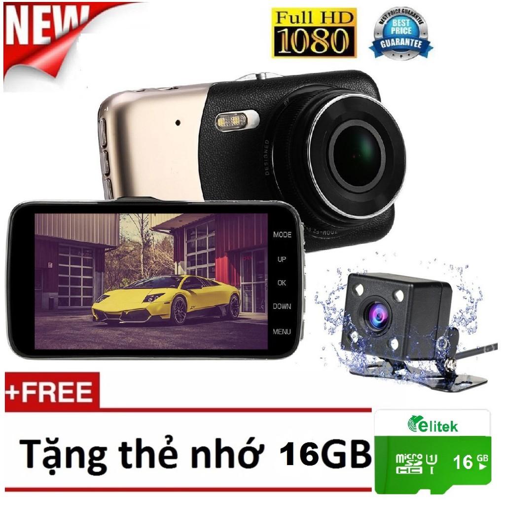 Camera Hành Trình Ô Tô Cao Cấp Dual Lens Kiêm Camera Lùi 2560 Tặng Thẻ Nhớ 16GB