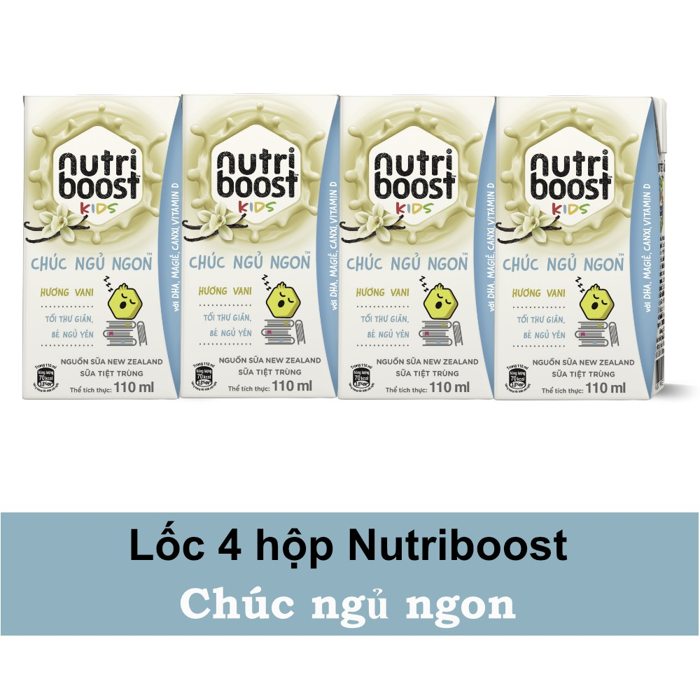 Lốc 4 hộp sữa tiệt trùng Nutriboost kid 110ml/hộp