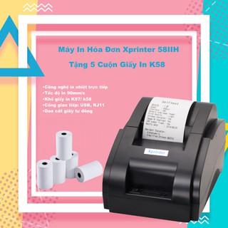 Máy in hoá đơn Xprinter 58IIH (USB) + Tặng Free 5 cuộn giấy in nhiệt