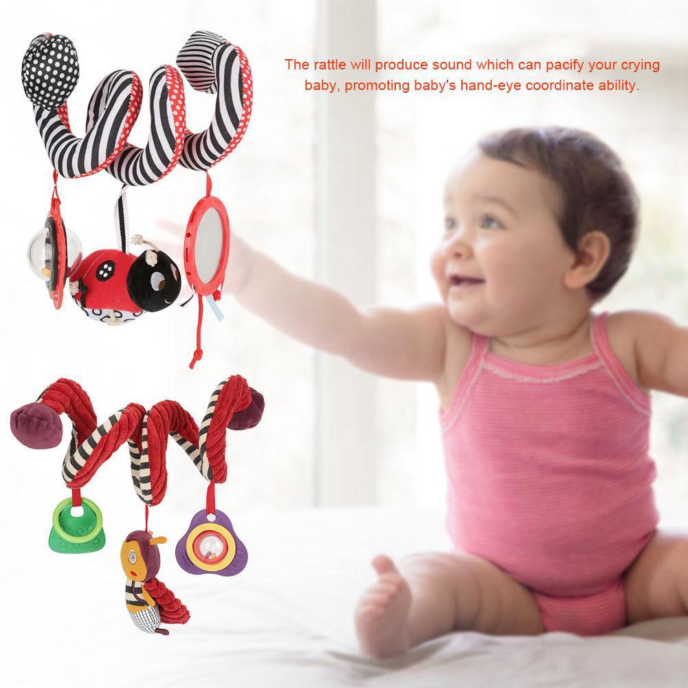 Baby Children Crib Stroller Plush Toy Infant Soft Hanging Cute Animal Rattle Toys