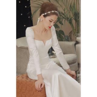 Đầm Cô Dâu Kiểu Dáng Đơn Giản Phong Cách Vintage Pháp 2020