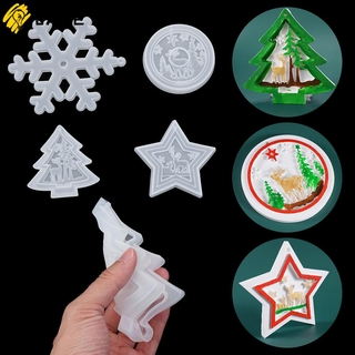 JANE DIY Pendant Epoxy Resin Molds Elk Silicone Mould|Resin Mold Hanging Tags Christmas Tree Jewelry Making Tools Bag Decoration Xmas Ornament
