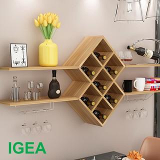 Bộ Kệ Phòng Khách Treo Tường kệ rượu nội thất IGEA GP26