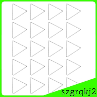 20pcs Triangle Hollow Charms Pendants for DIY Jewelry Making Craft Gold