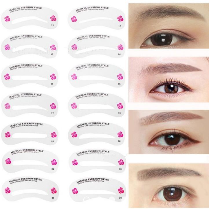[HOT SALE] trang điểm mắt-Bộ khuôn vẽ lông mày 24 kiểu - RẺ NHẤT VN