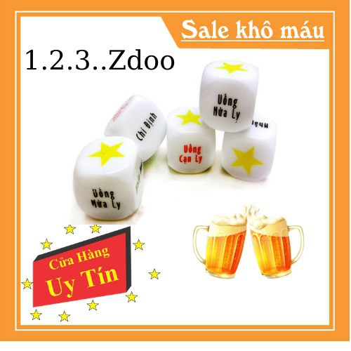 Xí Ngầu Ăn Nhậu ♨️ Free Ship 😚 Xúc Xắc Uống Bia Cho Bữa Nhậu Thêm Vui Vẻ