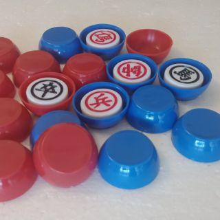 Nắp chơi cờ up ( nắp bầu xanh dương đỏ )