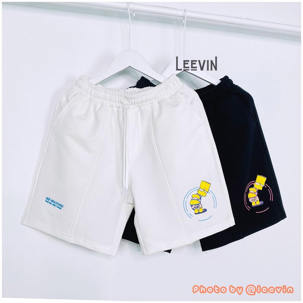 Quần Short Đùi Unisex HEY YOU Look But Don't Touch Nam Nữ - Quần Sooc Đùi Local Brand Heyyou Studio Leevin Store