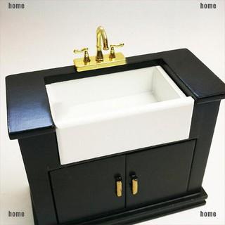 Mô hình vòi nước kép mini bằng hợp kim 1 12 cho nhà búp bê thumbnail