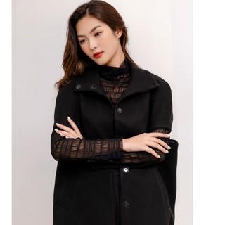 Áo khoác dạ đen tay lỡ thiết kế Elise thumbnail