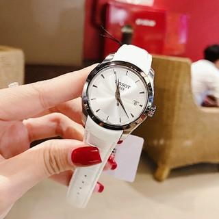 (Bảo hành 12 tháng) Đồng hồ nữ TISSOT dây da bóng, mặt chống xước, tặng box, bảo hành 12 tháng thumbnail
